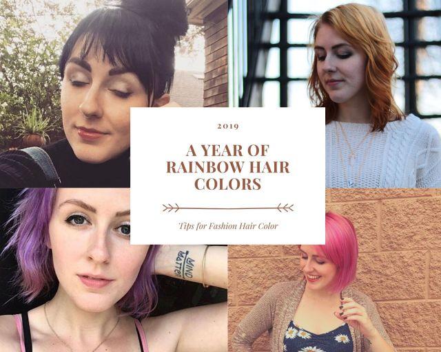 A Year of Rainbow hair colors